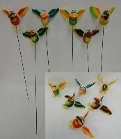 Yard Stake [Jumbo Tropical Birds with Springing Wings]